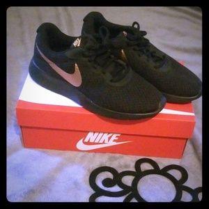 Black& Rose Gold Nike's